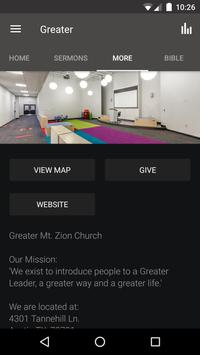 Greater Mt. Zion Austin apk screenshot