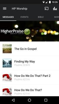 Higher Praise Worship Center App poster