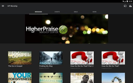 Higher Praise Worship Center App apk screenshot