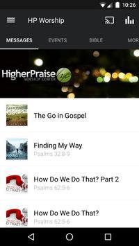 Higher Praise Worship Center App poster