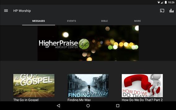 Higher Praise Worship Center App apk screenshot