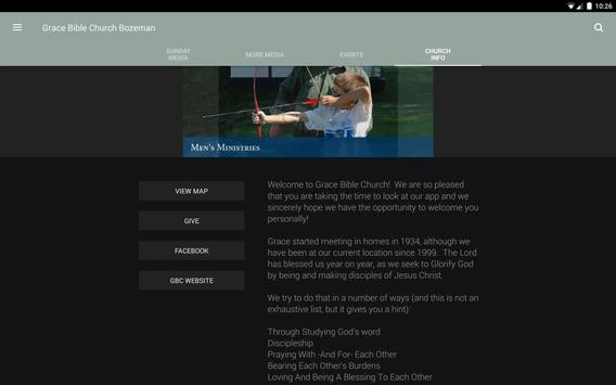 Grace Bible Church Bozeman apk screenshot