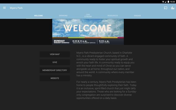 Myers Park Presbyterian Church apk screenshot