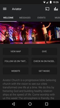 Aviator Church poster