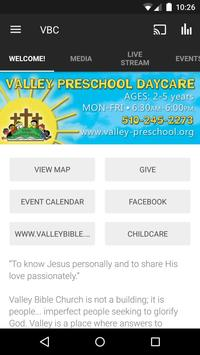 Valley Bible Church poster