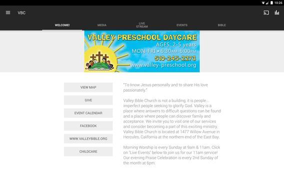 Valley Bible Church apk screenshot
