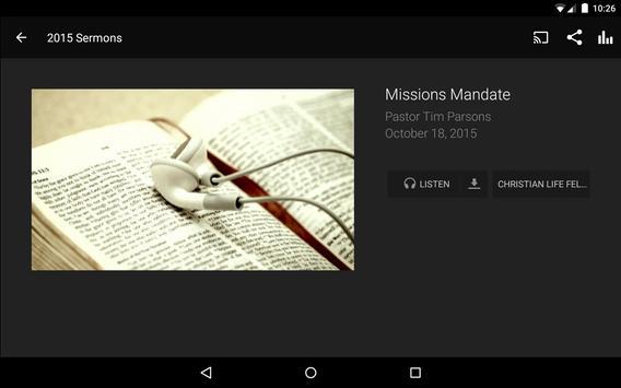 Christian Life Fellowship screenshot 6