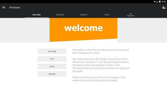 Riverbank Church App apk screenshot