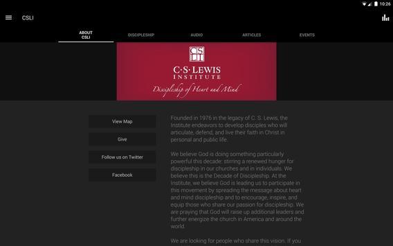 C.S. Lewis Institute apk screenshot