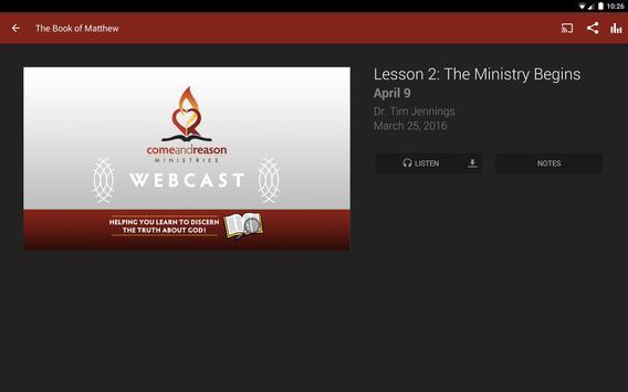 Come And Reason Ministries apk screenshot