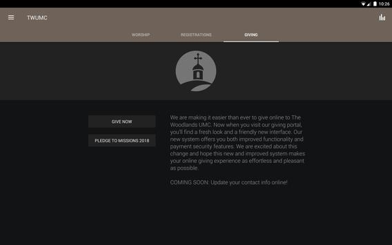 The Woodlands UMC apk screenshot