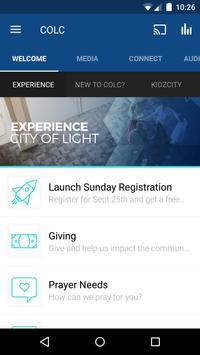 City of Light Church App poster