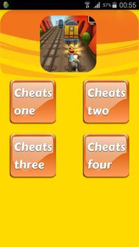 Cheats for Subway Surfers apk screenshot