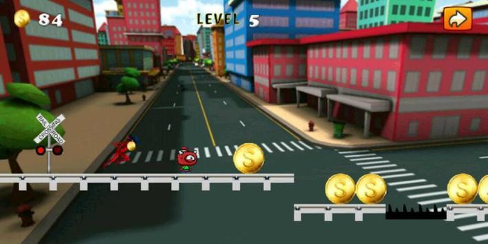 Subway Lady Bug Run apk screenshot
