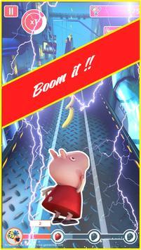 Pepa super pig adventure rush poster
