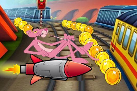 Subway fighter Jetpack Panther Rush Run apk screenshot