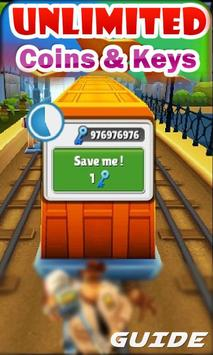 Coins Subway Surfer Keys Guide poster