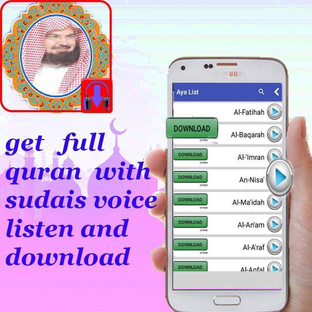 download sudais al quran complet for Android - APK Download