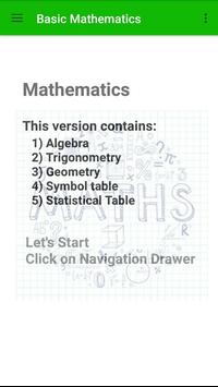 Basic Mathematics poster