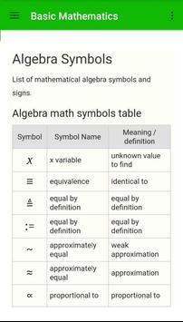 Basic Mathematics apk screenshot