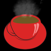 Divination by coffee grounds icon