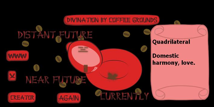 Divination by coffee grounds poster