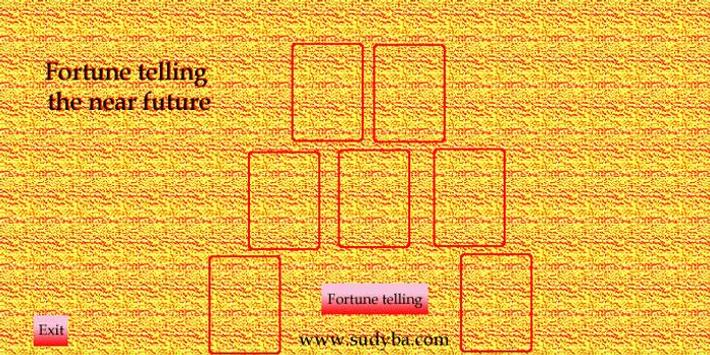 Fortune telling future 52 cards poster