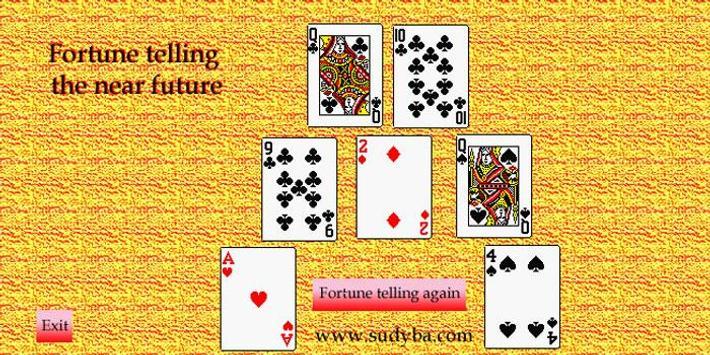 Fortune telling future 52 cards apk screenshot