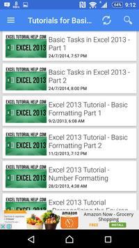 Tutorial For Excel 2013 screenshot 10