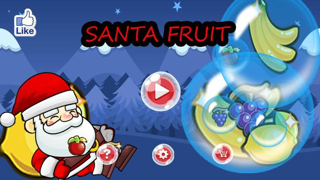 Santa Fruit poster