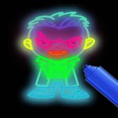 Draw Glow suicide squad icon