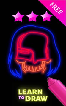 Draw Glow suicide squad apk screenshot