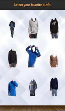 Men Sweatshirt Photo Suit screenshot 7
