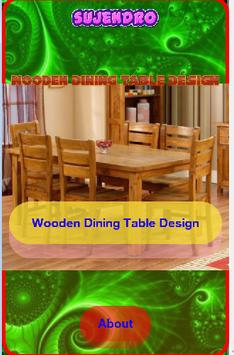 Wooden Dining Table Design poster