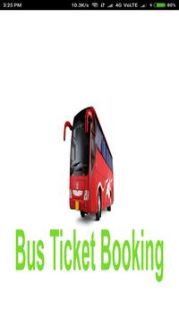 Bus Ticket booking poster