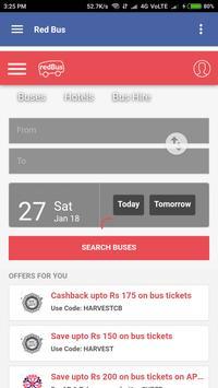 Bus Ticket booking screenshot 1