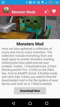 Monster Mod For MCPE` apk screenshot
