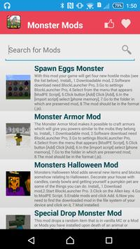 Monster Mod For MCPE` screenshot 1
