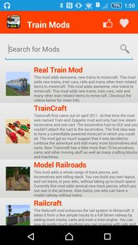 Train Mod For MCPE` apk screenshot