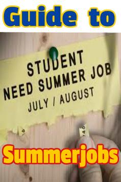 Guide to Summer jobs poster