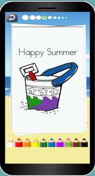 Summer Theme Coloring Pages screenshot 1