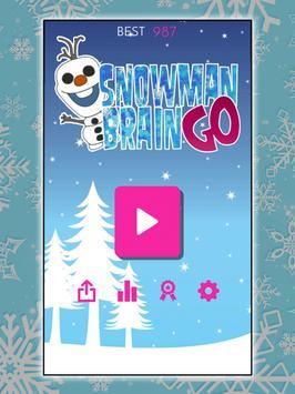 Snowman Frozen GO poster
