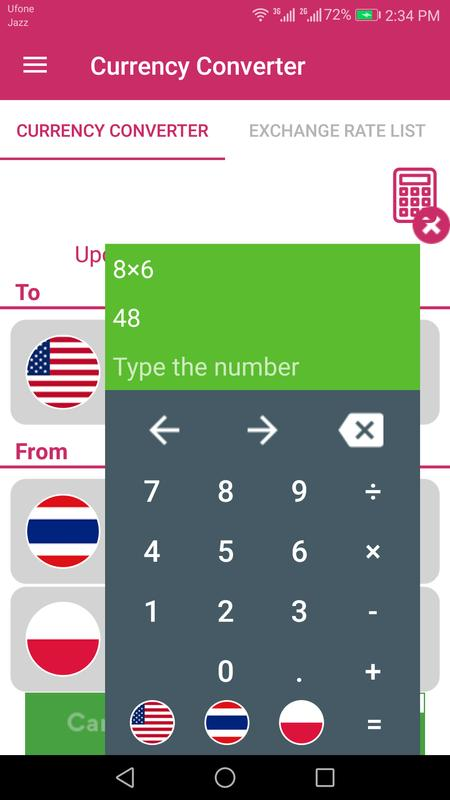 Us Dollar To Thai Baht And Poland Złoty Converter Screenshot 4