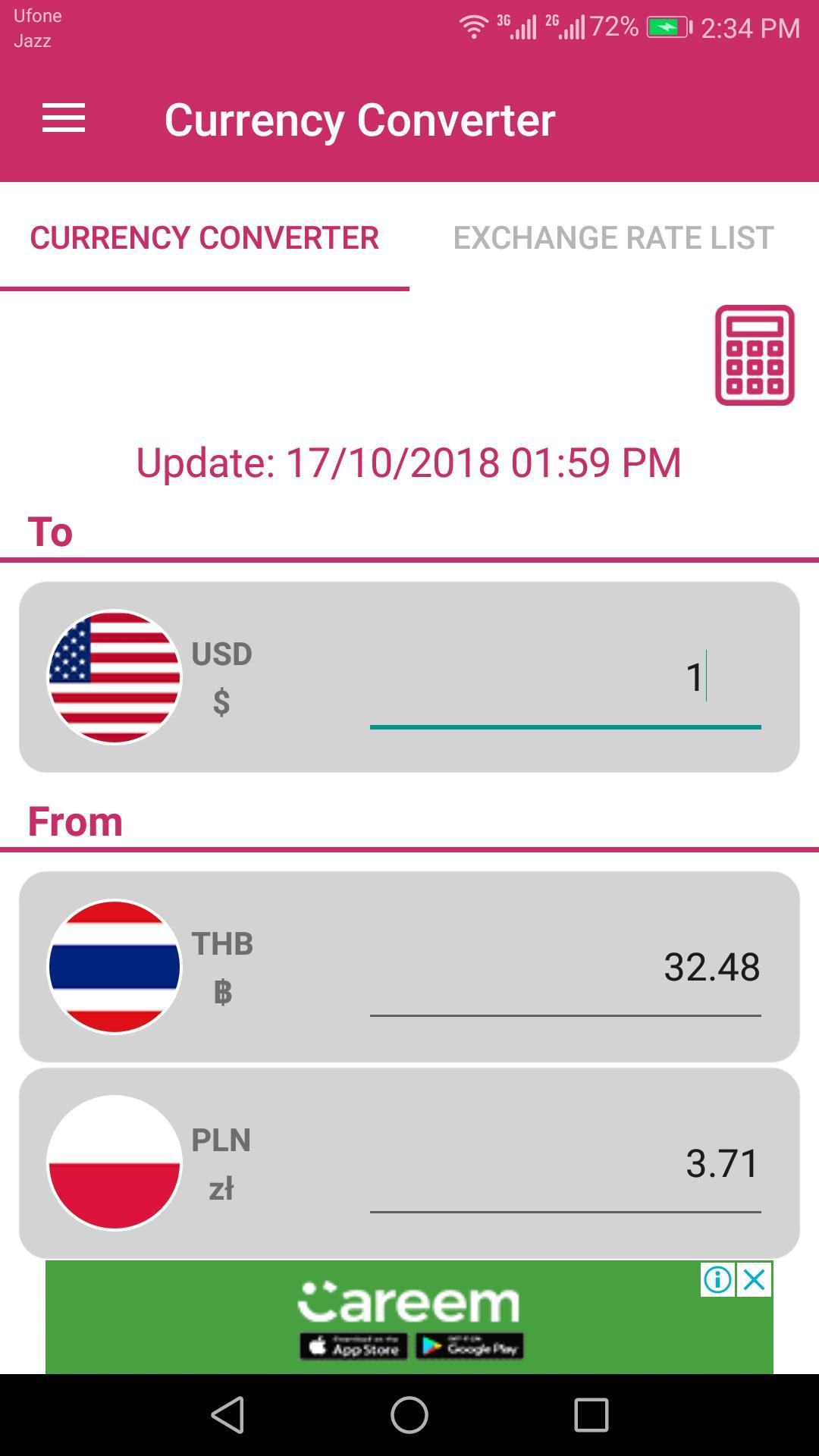 Us Dollar To Thai Baht And Poland Złoty