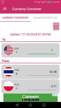 US Dollar To Thai Baht and Poland złoty Converter screenshot 1