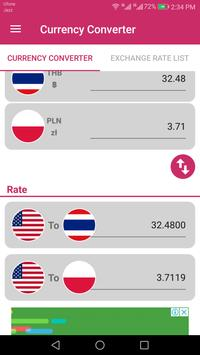 US Dollar To Thai Baht and Poland złoty Converter screenshot 2