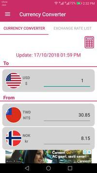 US Dollar To Taiwanese Dollar and NOK Converter screenshot 1