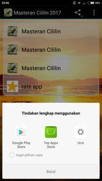 Masteran Cililin 2017 apk screenshot