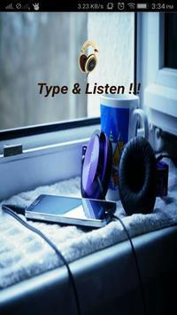 TYPE & LISTEN!!! poster