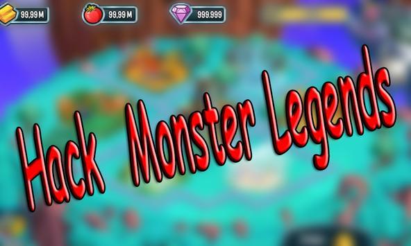 Cheats For Monster Legends Hack - Prank! poster